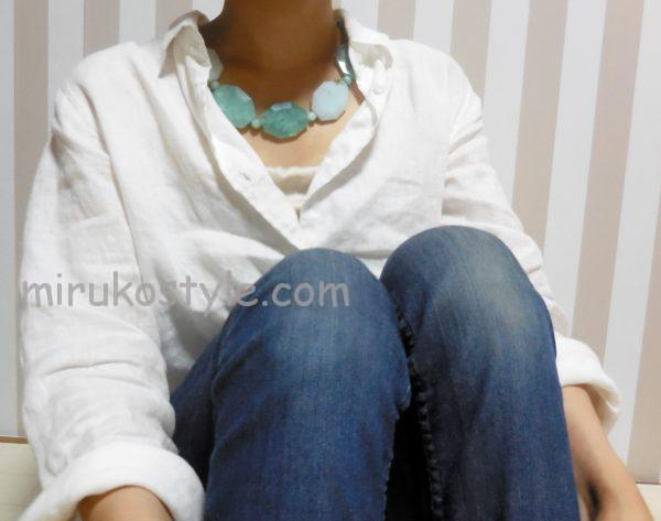 白シャツの着こなしパターン