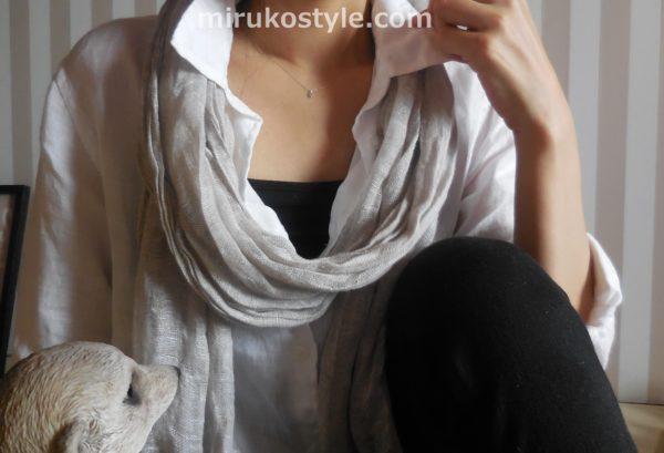 白シャツの着こなしパターン2