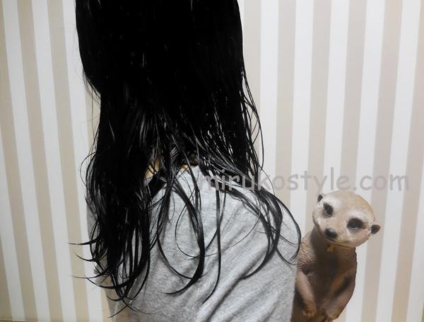 お風呂上がりの濡れた髪