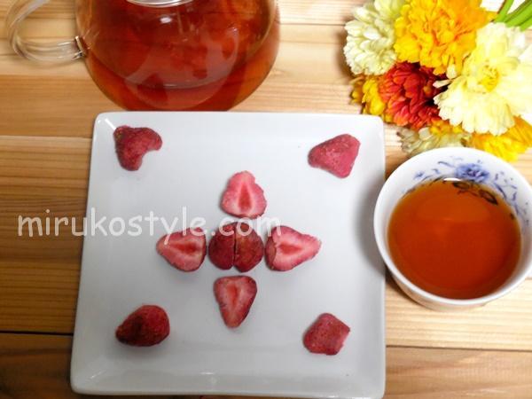 ホワイトストロベリーと紅茶