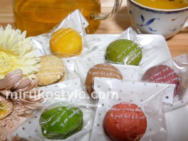 ケーキ工場カーディナルの色とりどりのマカロン