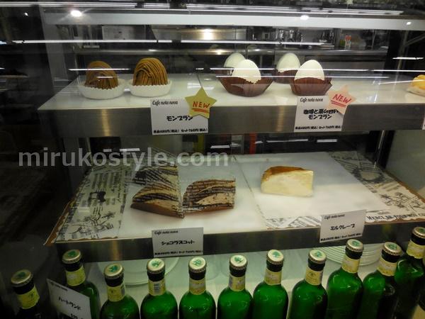 Cafe nota nova(カフェ ノータノーヴァ)のショーケースのケーキ