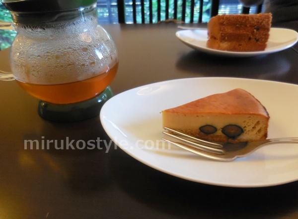cafe sloth(スロース)の黒豆のチーズケーキ