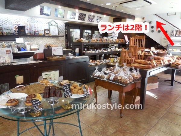 ビゴの店 鷺沼店の1階のパン屋さん